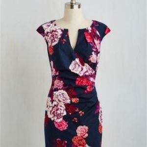 Adrianna Papell Rose Print Dress